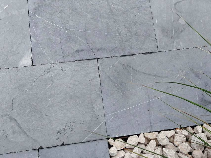 Kalksteinplatte Blaustein Azur Stonenaturelle Natursteinböden